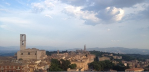 The panorama from the end of Corso Vanucci in Perugia